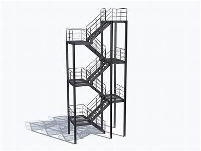 Stairs Industrial 3d Architectural Models Cgtrader