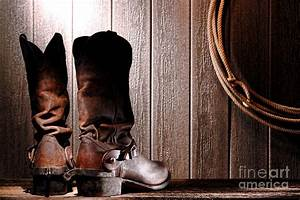 Spurs On Cowboy Boots Heels Photograph by Olivier Le Queinec