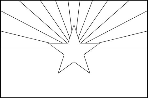 Arizona State Flag Coloring Page - Eskayalitim