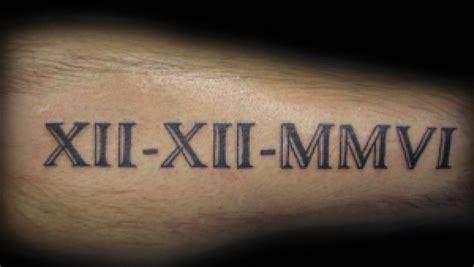 Tatouage Avant Bras Lettre Romaine Tattoo Art