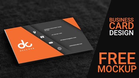 Orange Gray 3d Business Card Mockup + Psd Free Download Gift Card For Business Use Buy Leather Holder Visa Icons Photoshop Custom How To Make A Out Of Window Wall Staples