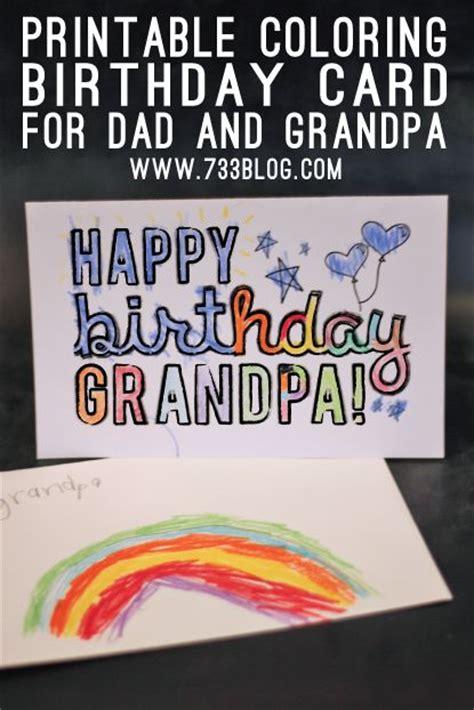 dadgrandpa printable coloring birthday cards coloring  printable coloring pages