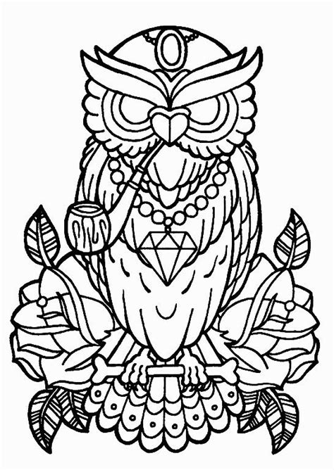 Pin by Polina Polly on owls   Owl coloring pages, Rose