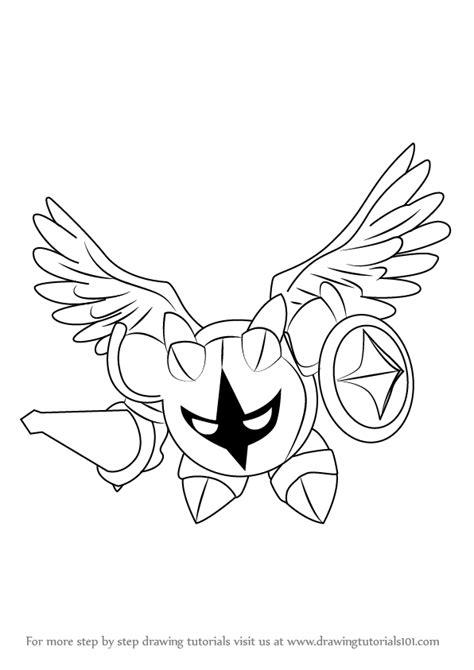 step  step   draw galacta knight  kirby drawingtutorialscom