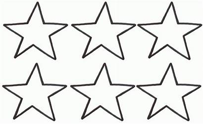 Template Coloring Outline Printable Stars Templates Sheets
