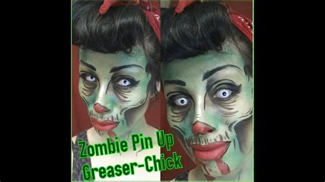 Halloween Series 2014 Zombie Pinup Greaser Chick Makeup