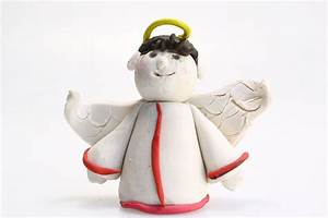 How To Make A Polymer Clay Angel  With Pictures