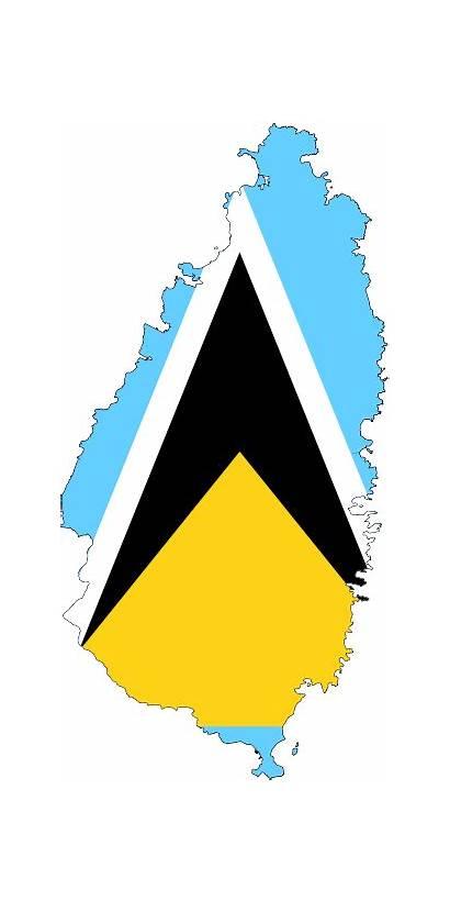 Lucia Flag Saint Clipart St Clip Map