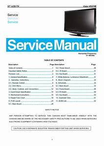 Vizio Vs370e Lcd Tv Service Manual  Service Manual  Repair