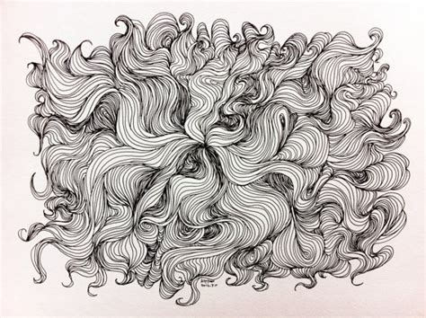 Original Drawing Abstract Line Drawing Sharpie Art And