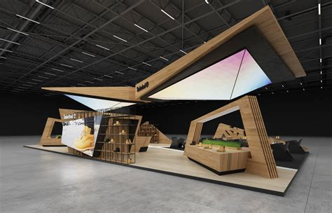 timberland exhibition stand  behance