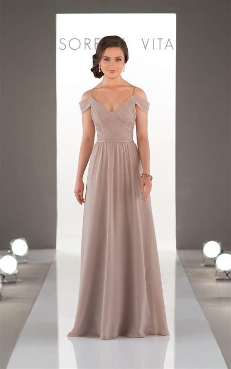 bridesmaid gowns romantic   shoulder gown
