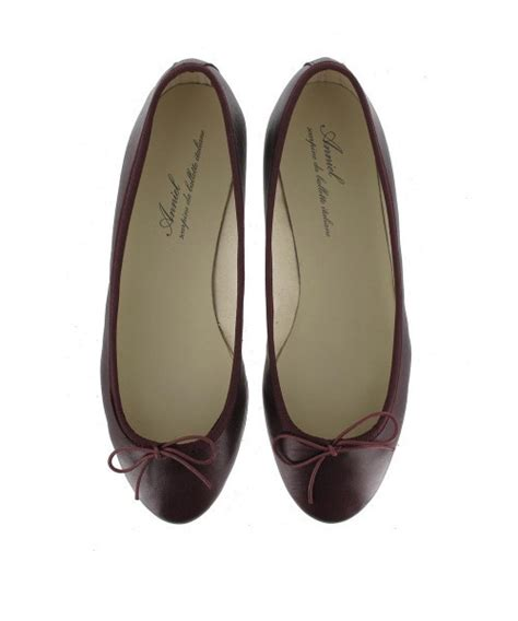 wine colored flats shoes