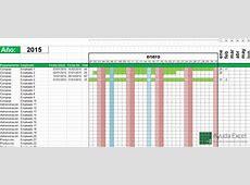 Plantilla para el control de vacaciones 2015 Ayuda Excel
