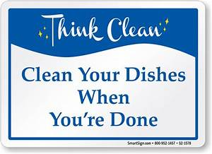 Think Clean Signs | MyDoorSign.com