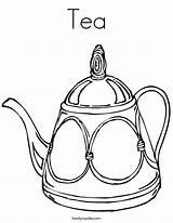 Tea Coloring Teapot Cup Drawing Line Noodle Pot Sheets Template Twistynoodle Printable Decorative Built California Usa Templates Login Favorites Twisty sketch template