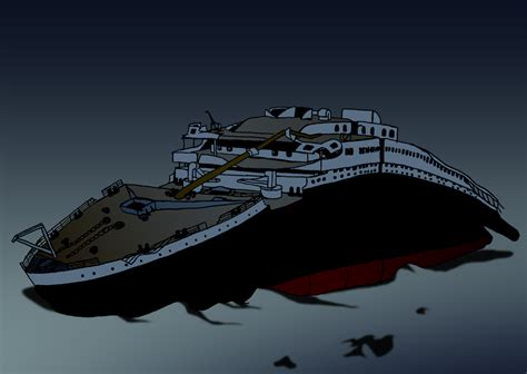 Lego Ship Sinking In Real Water by Wreck Of The Titanic By Fantasyflixart On Deviantart