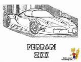 Ferrari Coloring Pages Laferrari Zxx Fast Cars Yescoloring Race Boys Pounding Heart Supercar Template sketch template