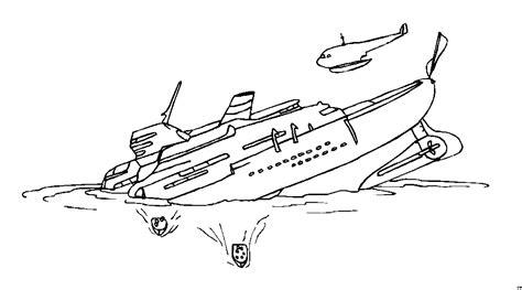 sinkendes schiff ausmalbild malvorlage die weite welt