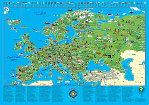illustrierte europakarte poster querformat 100604l ebay