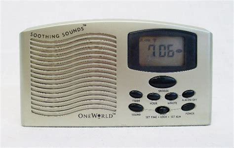 One World Soothing Sounds Compact Digital Alarm Clock