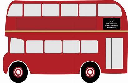 Bus Decker London Double Clipart Drawing England