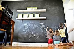 Tableau Mural Craie : 68 id es cr atives avec l 39 ardoise murale ~ Teatrodelosmanantiales.com Idées de Décoration