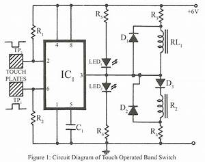 Touch Operated Band Switch For Radio Set  U2013 Electronics Project