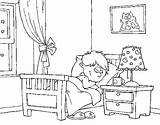 Quarto Colorir Colorear Dibujo Pintar Desenho Dibujos Colorare Chambre Cuarto Disegno Stanza Dormitorio Imagens Habitacion Imagen Dibujar Coloring Desenhos Letto sketch template