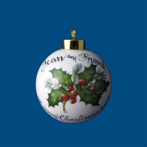 custom hand painted christmas ornaments personalized painted ornament with