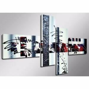 Tableau Metal Design : tableau triptyque design rouge gris abstrait ejrac ~ Teatrodelosmanantiales.com Idées de Décoration