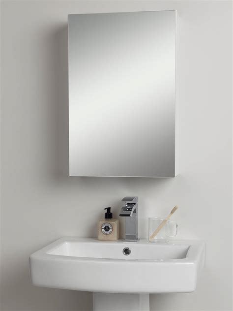 White Mirrored Bathroom Cabinets by Lewis Partners Single Mirrored Bathroom Cabinet