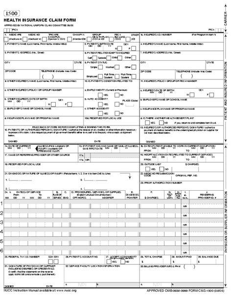medicare 1500 form cms claimbilling cms 1500 claim form billing instruction
