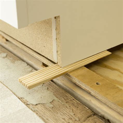 Installing Kitchen Cabinets On Uneven Floor  Home Decor