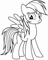 Coloring Pages Rainbow Dash sketch template