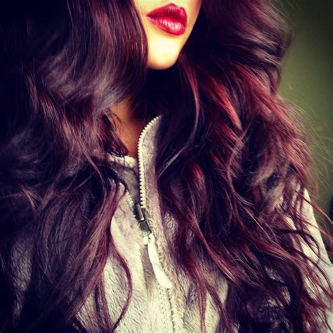 Red Plum Purple Burgundy Hair Styles To Dye For