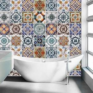 carrelage adhesif pour salle de bain modele portugais With carrelage adhesif salle de bain avec pack par led