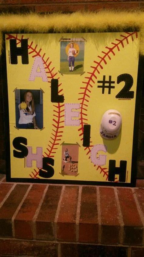 haleighs softball playoff poster softball yellow poster