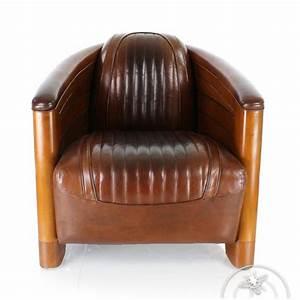 Fauteuil Cuir Marron Vintage : fauteuil club cuir marron vintage pirogue saulaie ~ Teatrodelosmanantiales.com Idées de Décoration
