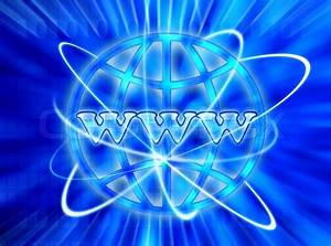 Blue WWW internet digital world background, conceptual