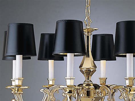 l shades cheap mini glass clip on chandelier shades