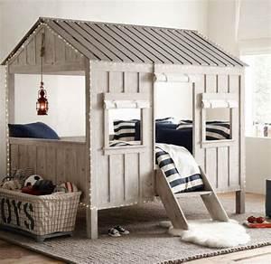 Construire Un Lit Cabane : lit cabane pour enfant site de creationmobilier ~ Melissatoandfro.com Idées de Décoration
