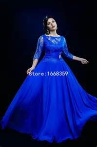 plus size royal blue bridesmaid dresses new arrival best sale 2015 lace royal blue of the dresses plus size chiffon 3 4