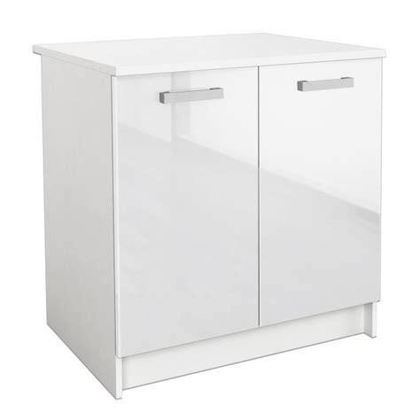 meuble bas cuisine 80 cm start meuble bas de cuisine 80 cm blanc brillant achat