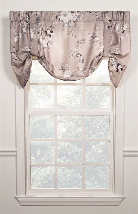 tie up valance chatsworth tie up valance ellis kitchen valances