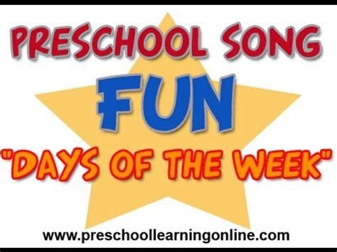 days of the week song teach days of the week preschool 192 | hqdefault