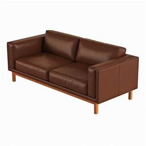 West elm dekalb leather sofa 3d model max obj fbx for West elm sectional sofa leather