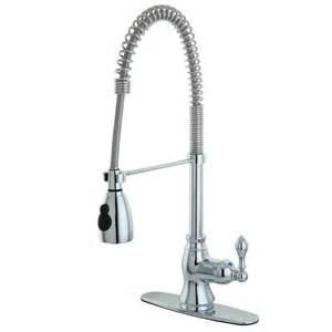 kingston brass kitchen faucet reviews shop kingston brass american classic chrome 1 handle pull kitchen faucet at lowes