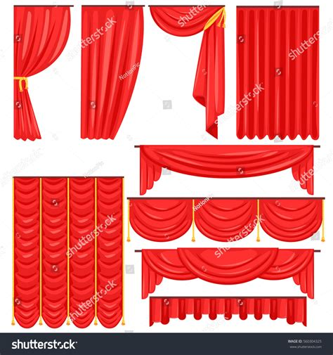 different types theatrical stage curtain drapes stock