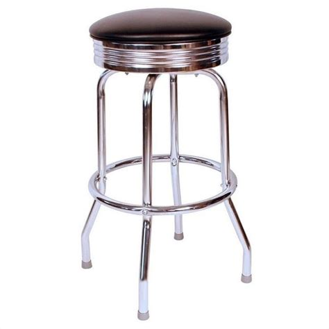 1950s Bar Stools Richardson Seating Retro 1950s Chrome Swivel Bar Stool In